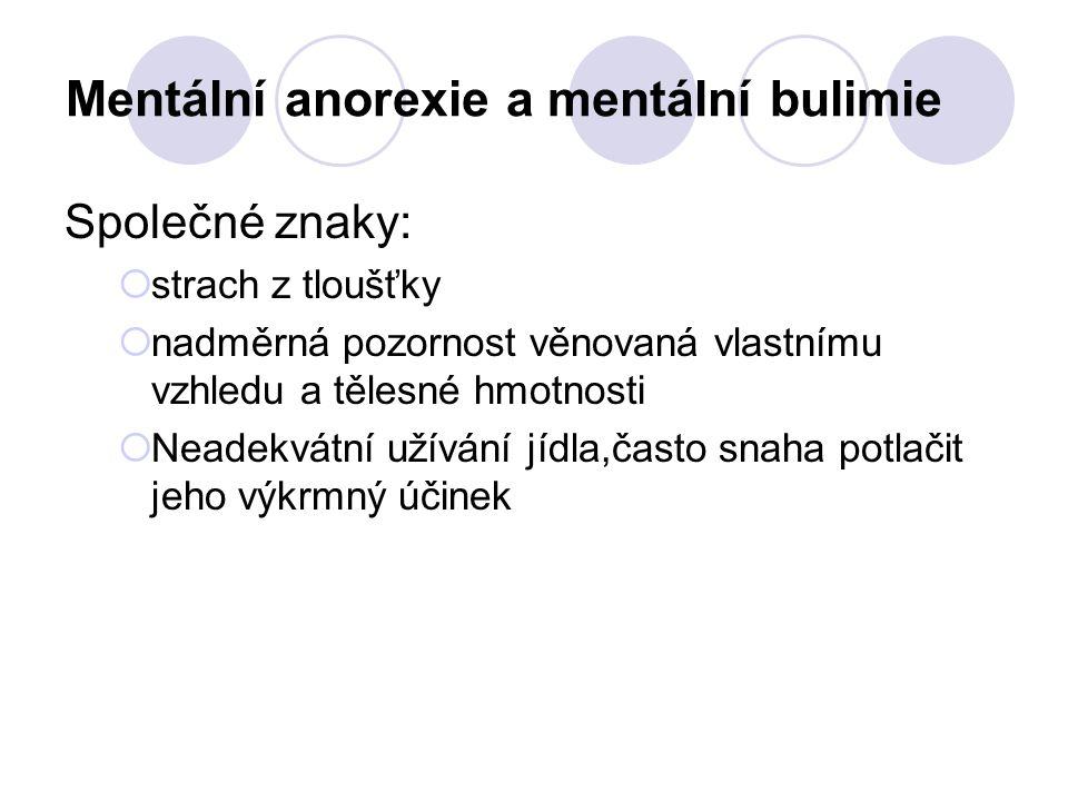 Mentální anorexie a mentální bulimie