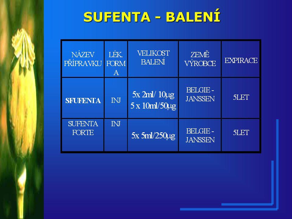 SUFENTA - BALENÍ