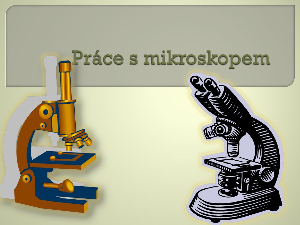 Práce s mikroskopem