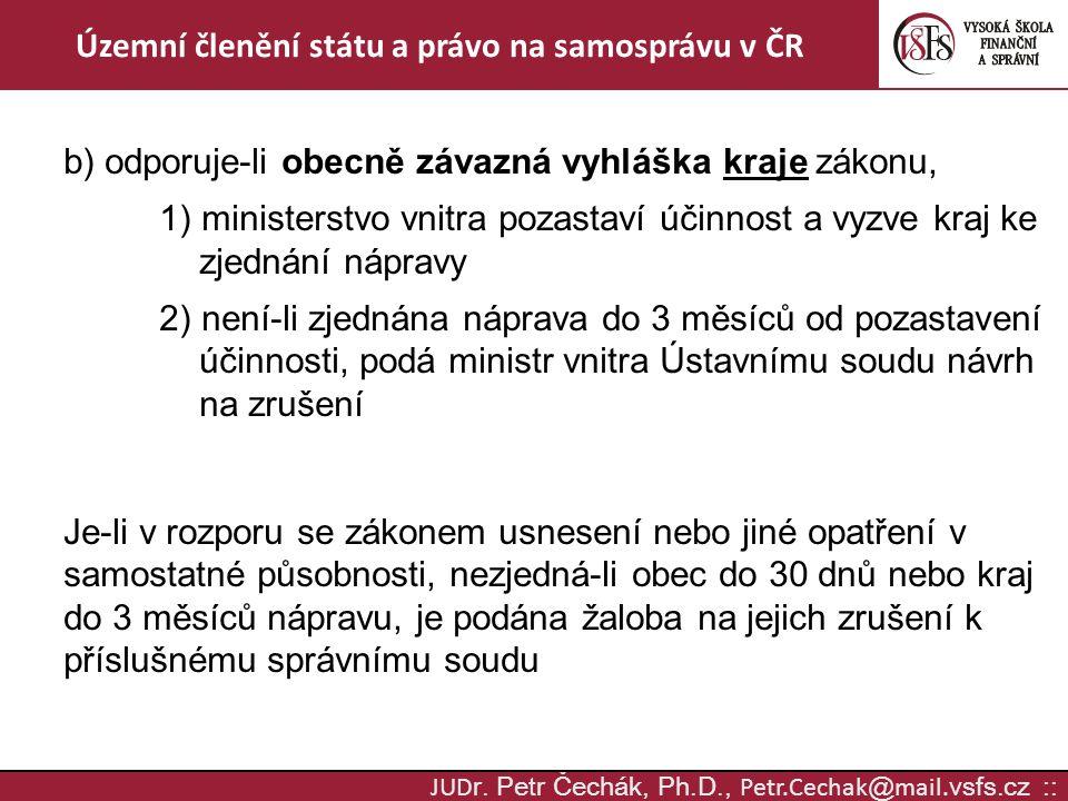 Územní členění státu a právo na samosprávu v ČR