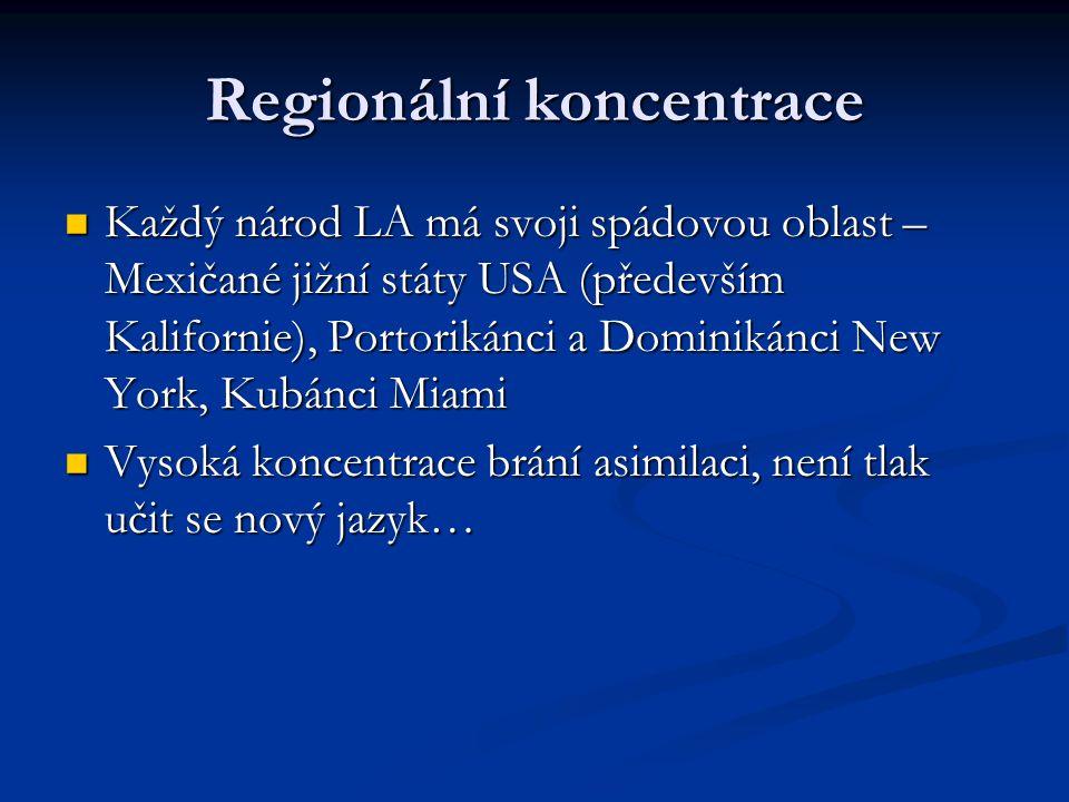 Regionální koncentrace