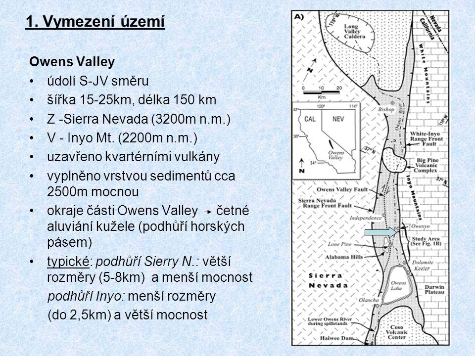 1. Vymezení území Owens Valley údolí S-JV směru