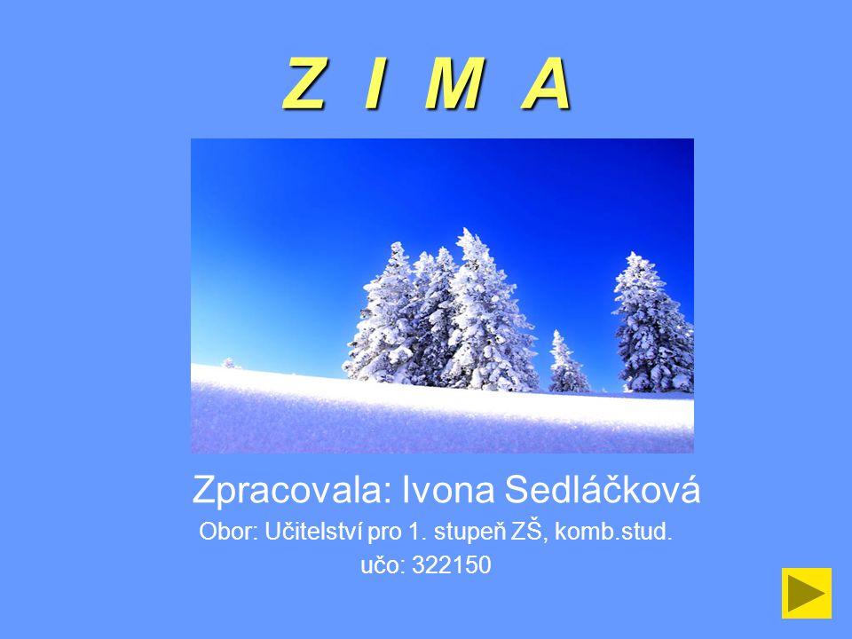 Z I M A Zpracovala: Ivona Sedláčková