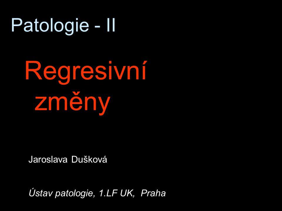 Regresivní změny Patologie - II Jaroslava Dušková