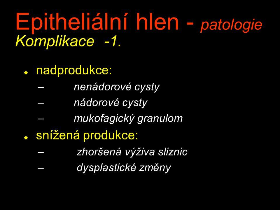 Epitheliální hlen - patologie Komplikace -1.