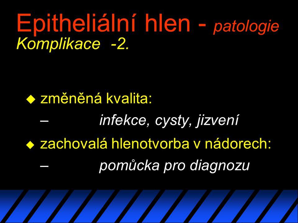 Epitheliální hlen - patologie Komplikace -2.
