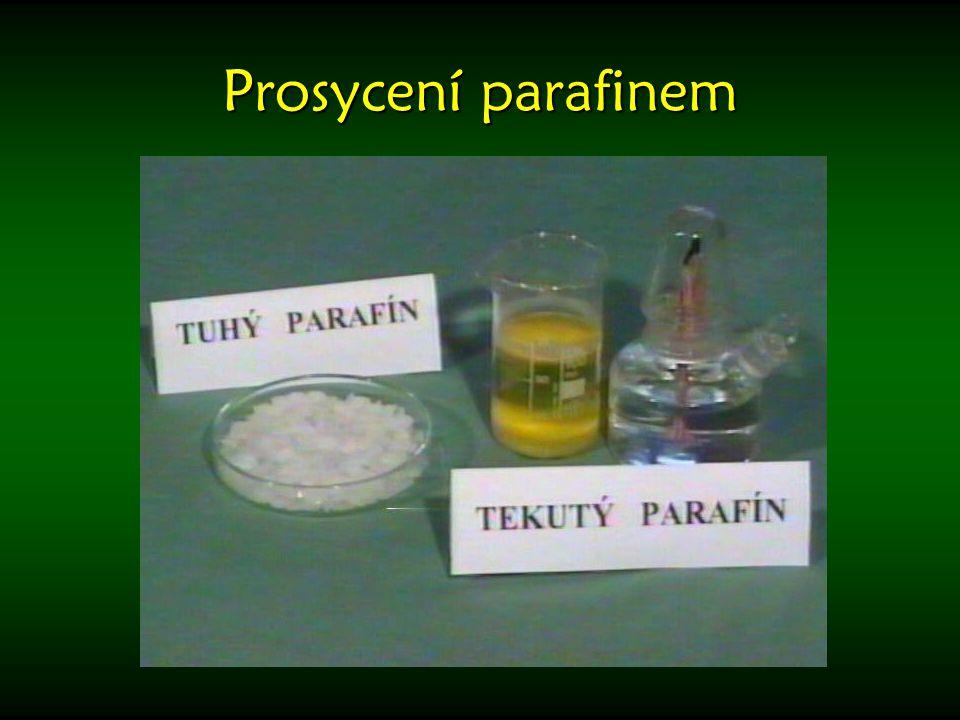 Prosycení parafinem