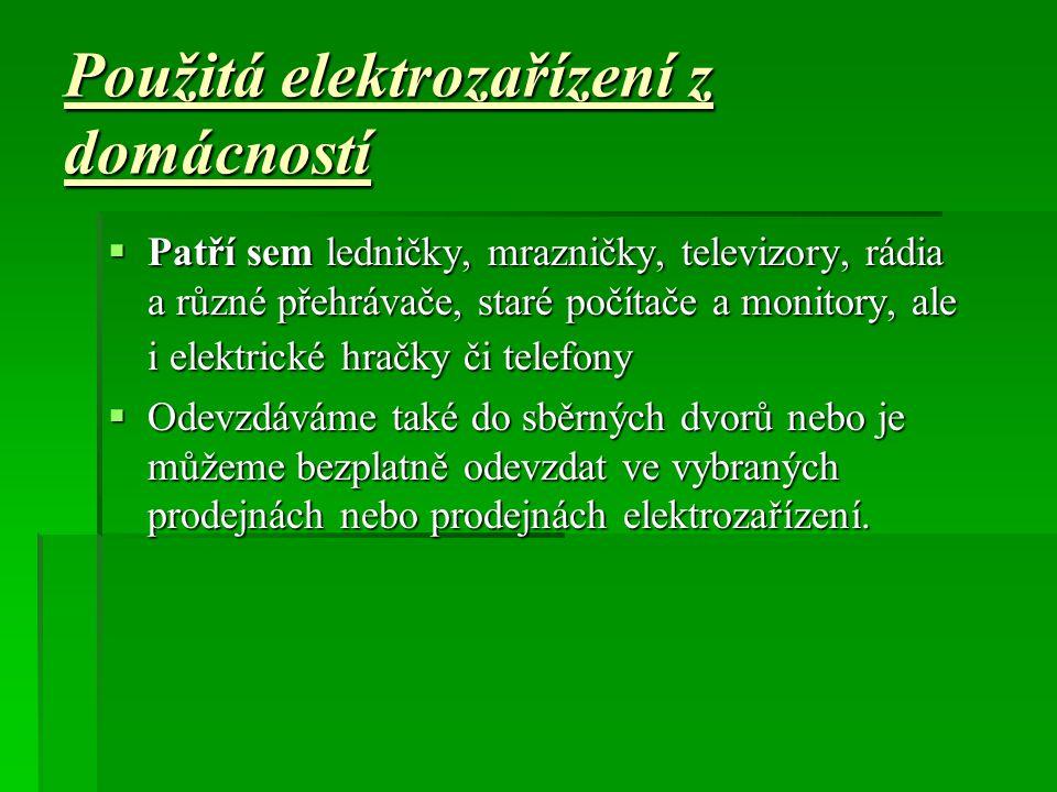 Použitá elektrozařízení z domácností
