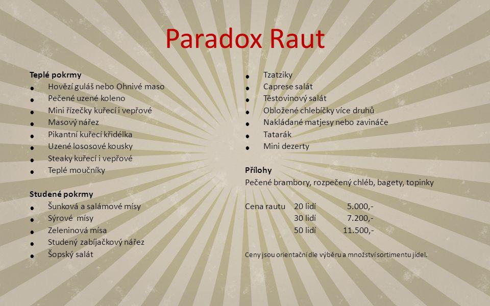 Paradox Raut Teplé pokrmy Tzatziky Hovězí guláš nebo Ohnivé maso