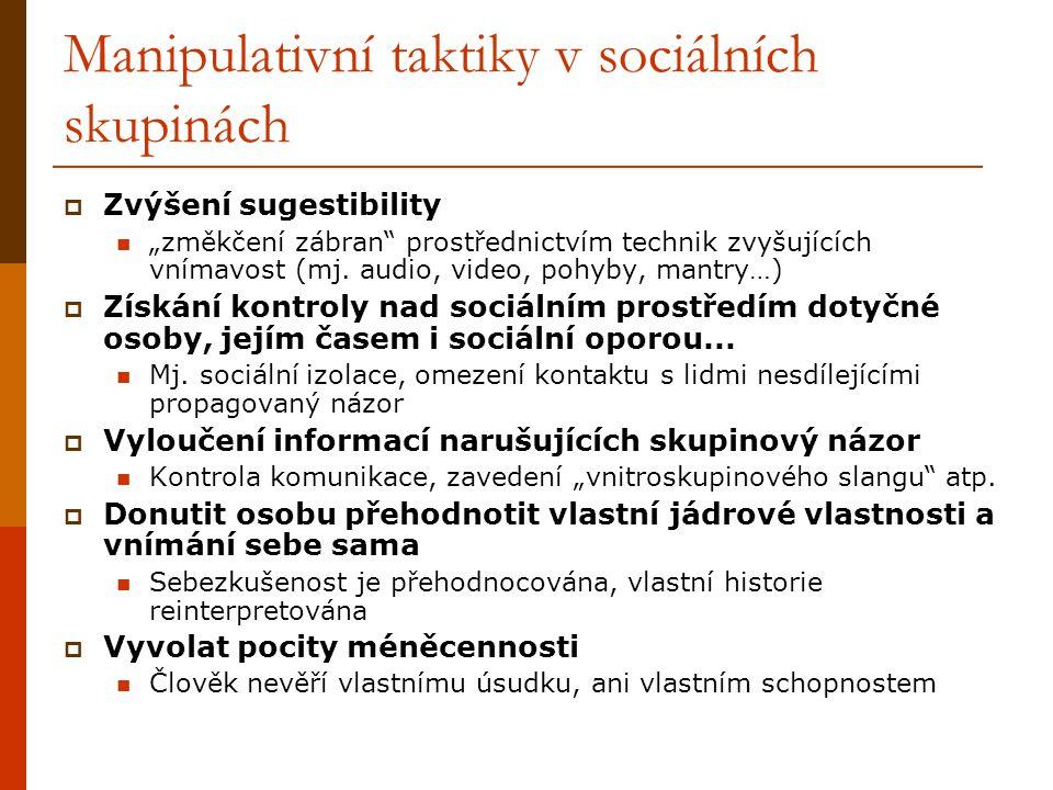 Manipulativní taktiky v sociálních skupinách