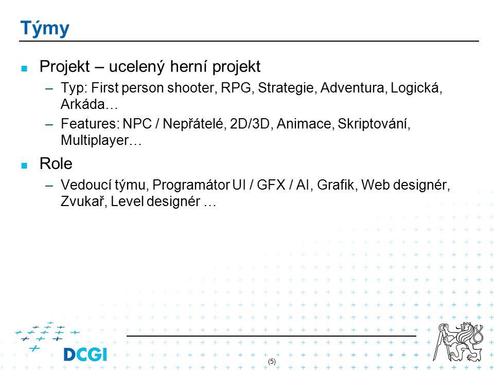 Týmy Projekt – ucelený herní projekt Role