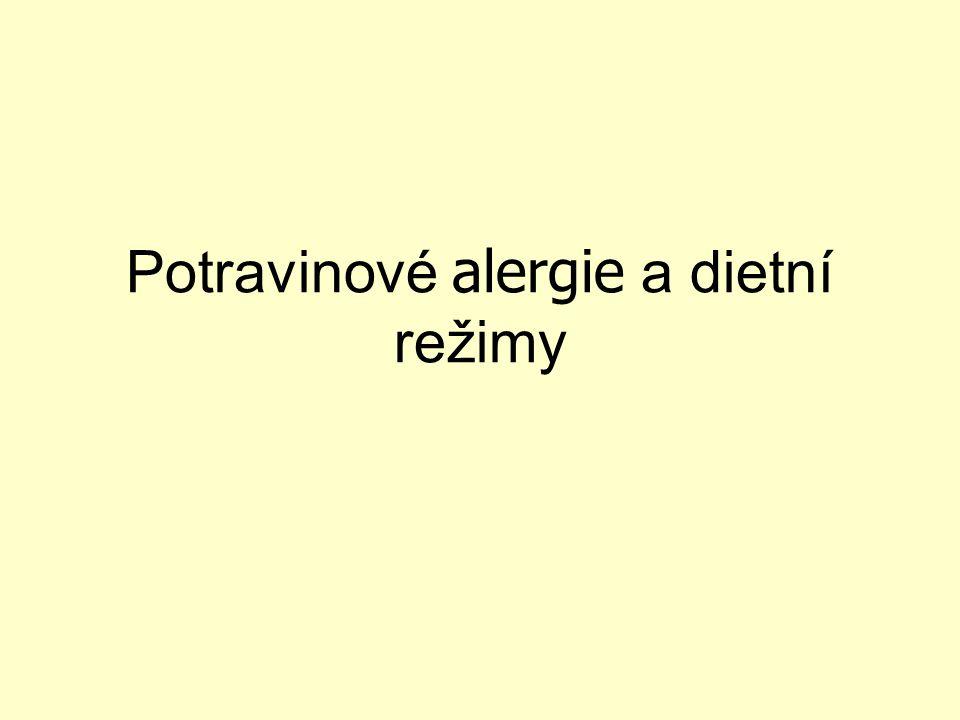 Potravinové alergie a dietní režimy