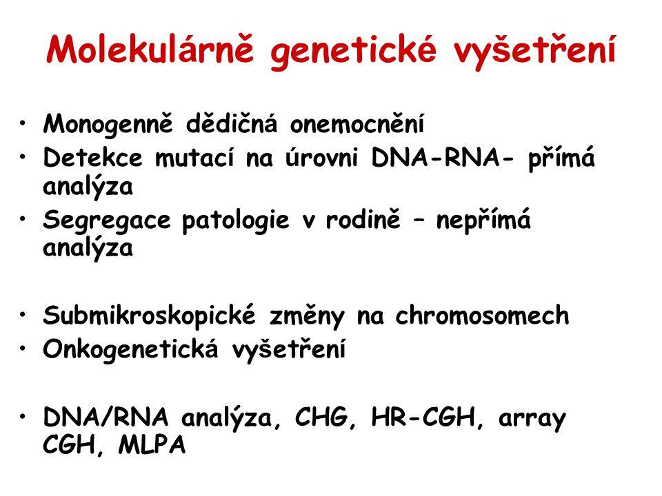 Molekulárně genetické vyšetření