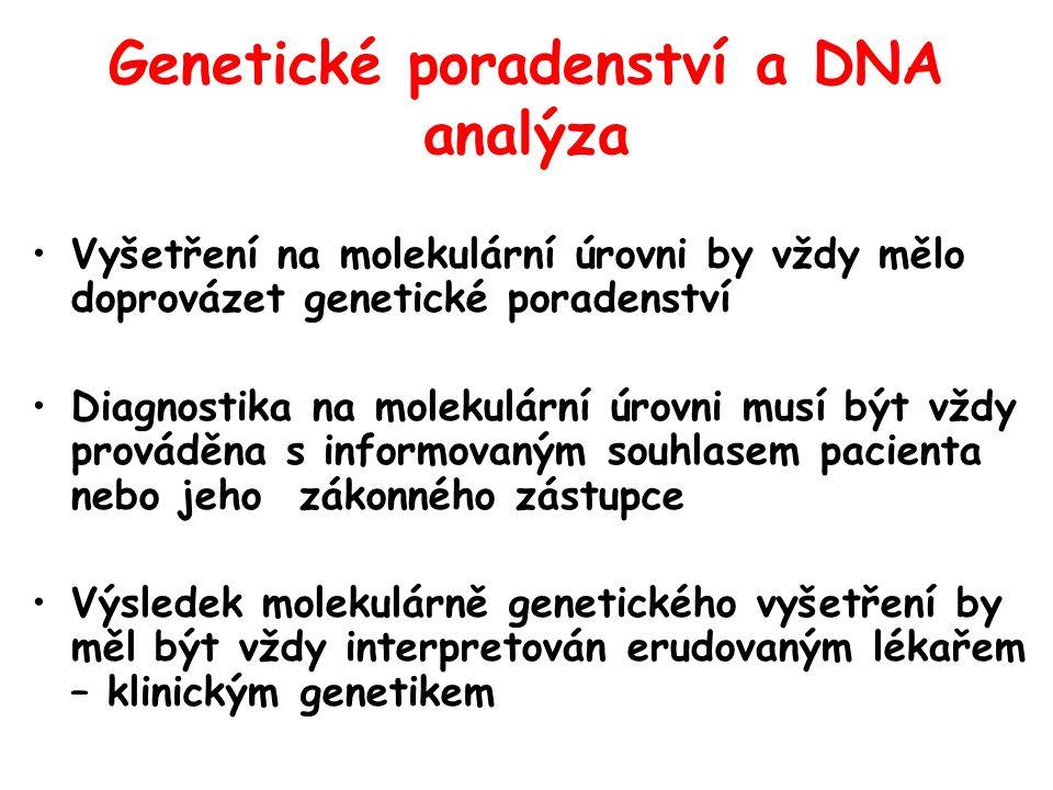 Genetické poradenství a DNA analýza
