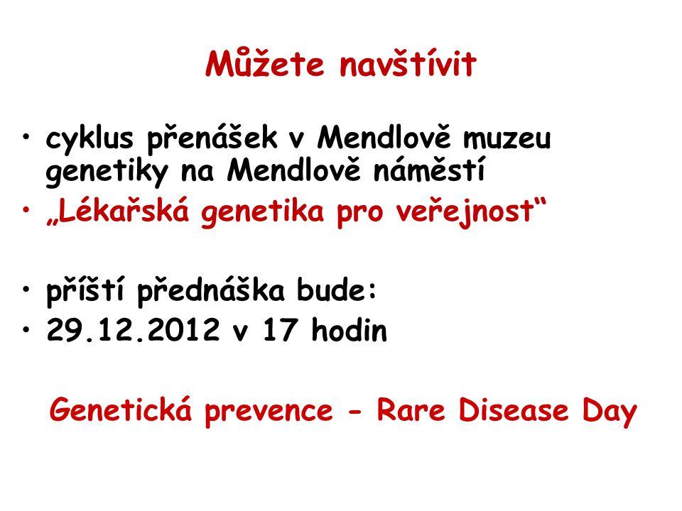 Genetická prevence - Rare Disease Day