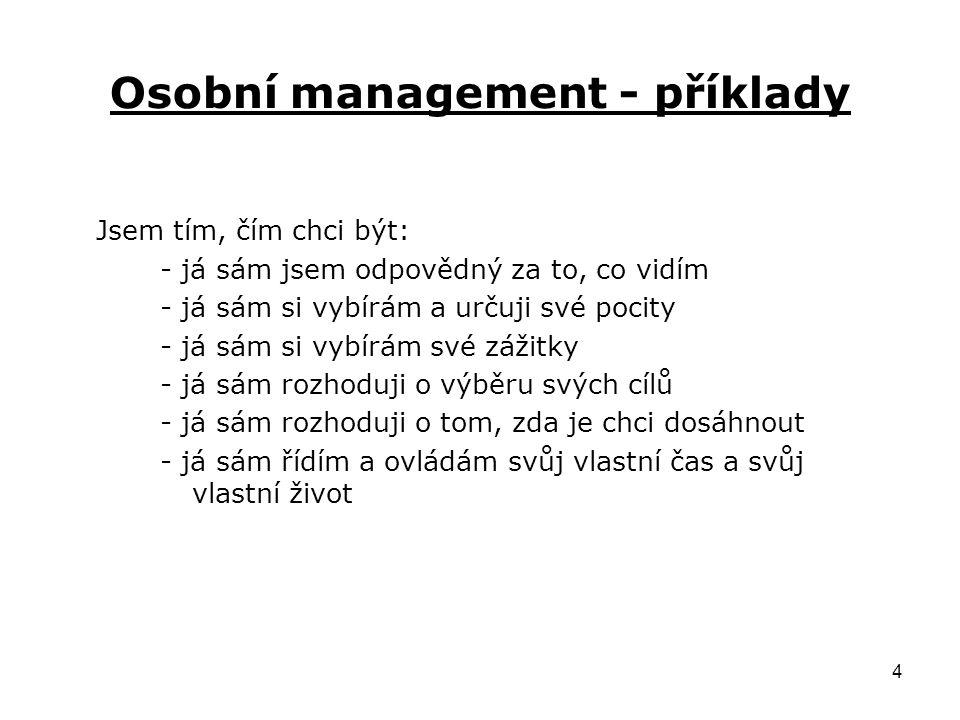 Osobní management - příklady