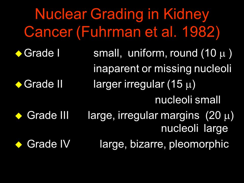 Nuclear Grading in Kidney Cancer (Fuhrman et al. 1982)