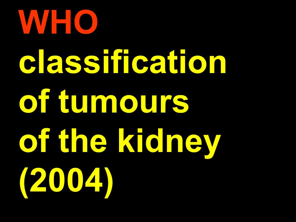 WHO classification of tumours