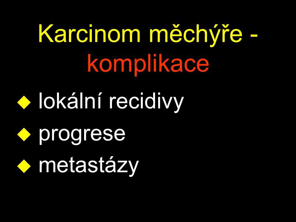 Karcinom měchýře - komplikace