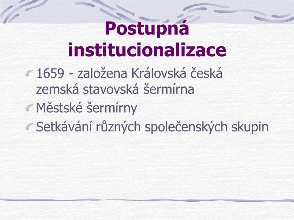 Postupná institucionalizace