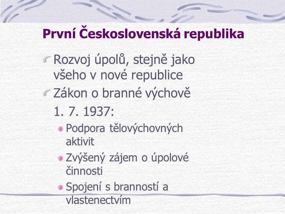 První Československá republika