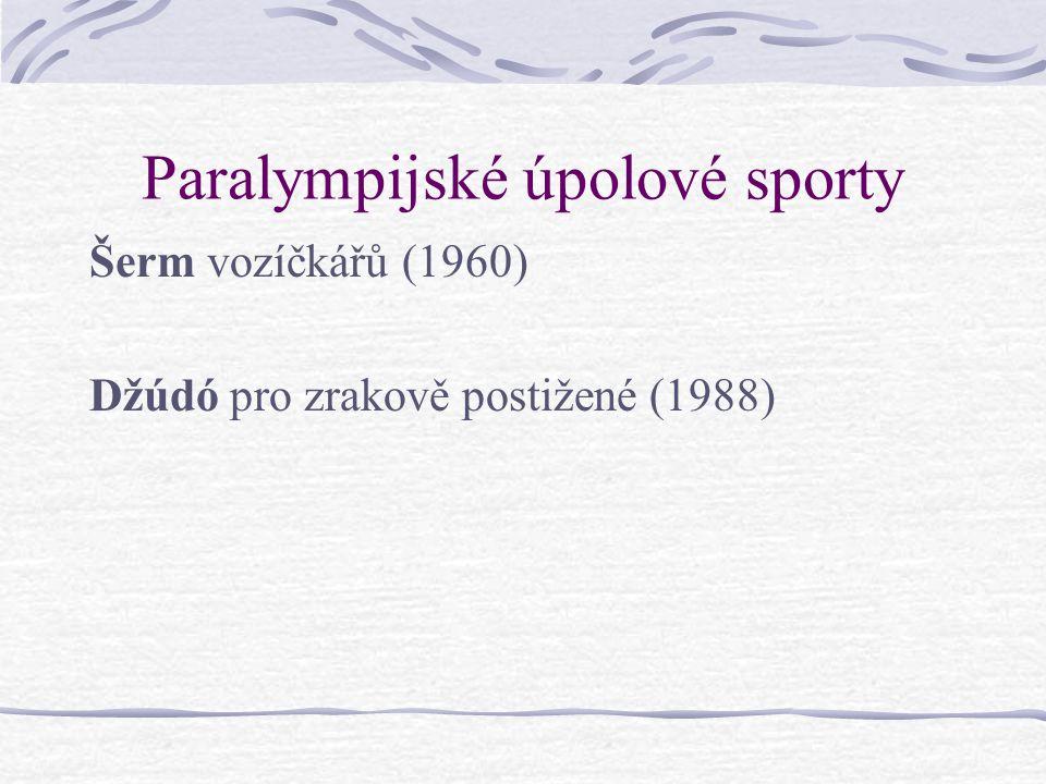 Paralympijské úpolové sporty