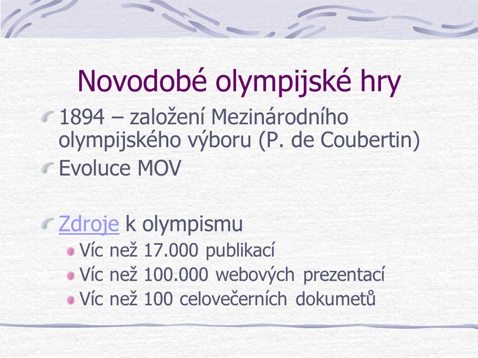 Novodobé olympijské hry