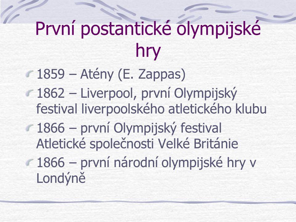 První postantické olympijské hry