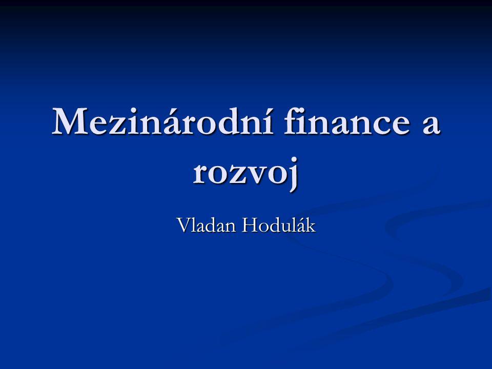 Mezinárodní finance a rozvoj