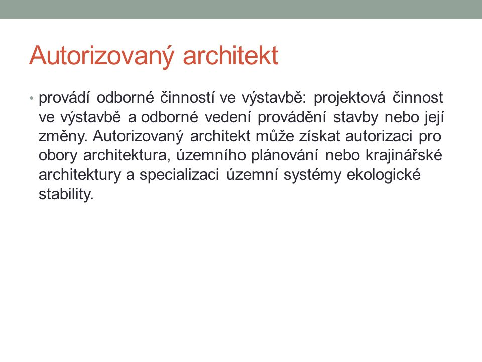 Autorizovaný architekt