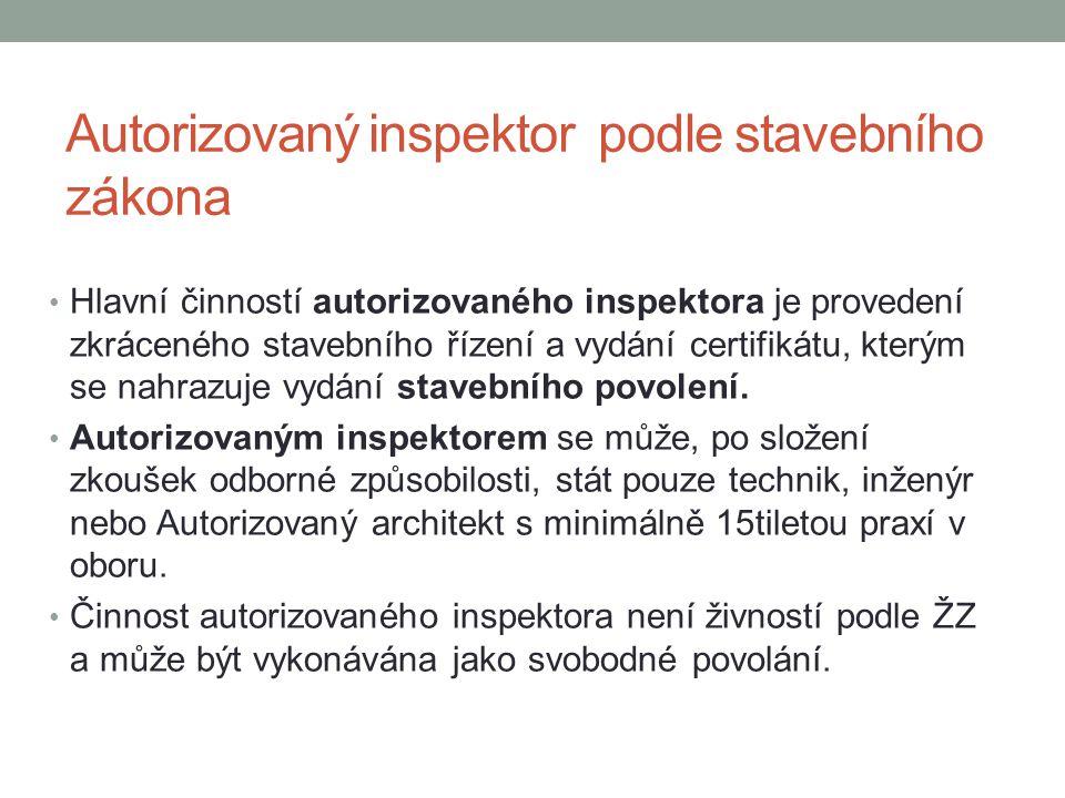 Autorizovaný inspektor podle stavebního zákona