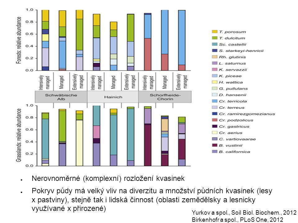 Nerovnoměrné (komplexní) rozložení kvasinek