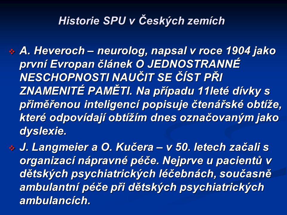 Historie SPU v Českých zemích