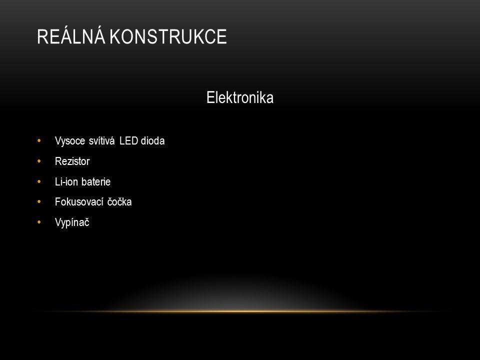 Reálná konstrukce Elektronika Vysoce svítivá LED dioda Rezistor