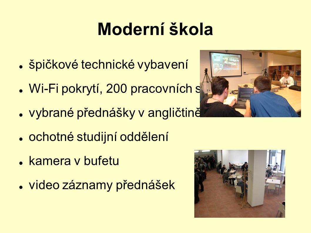 Moderní škola špičkové technické vybavení