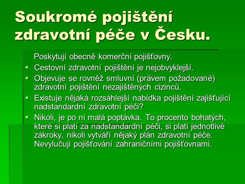 Soukromé pojištění zdravotní péče v Česku.