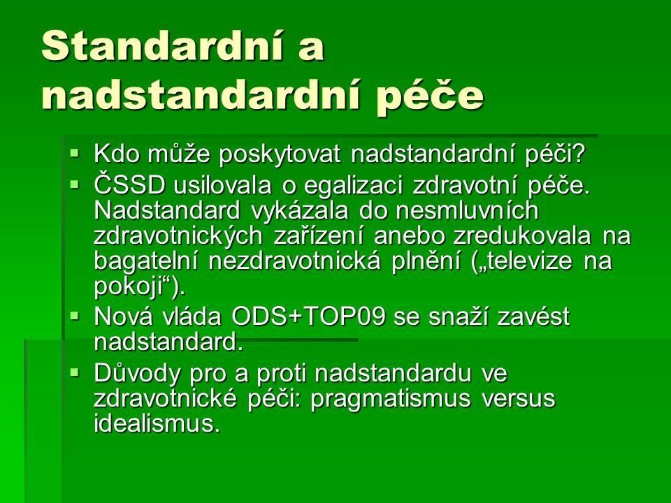 Standardní a nadstandardní péče