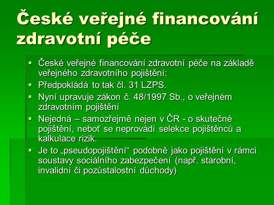 České veřejné financování zdravotní péče