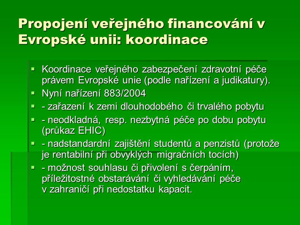 Propojení veřejného financování v Evropské unii: koordinace