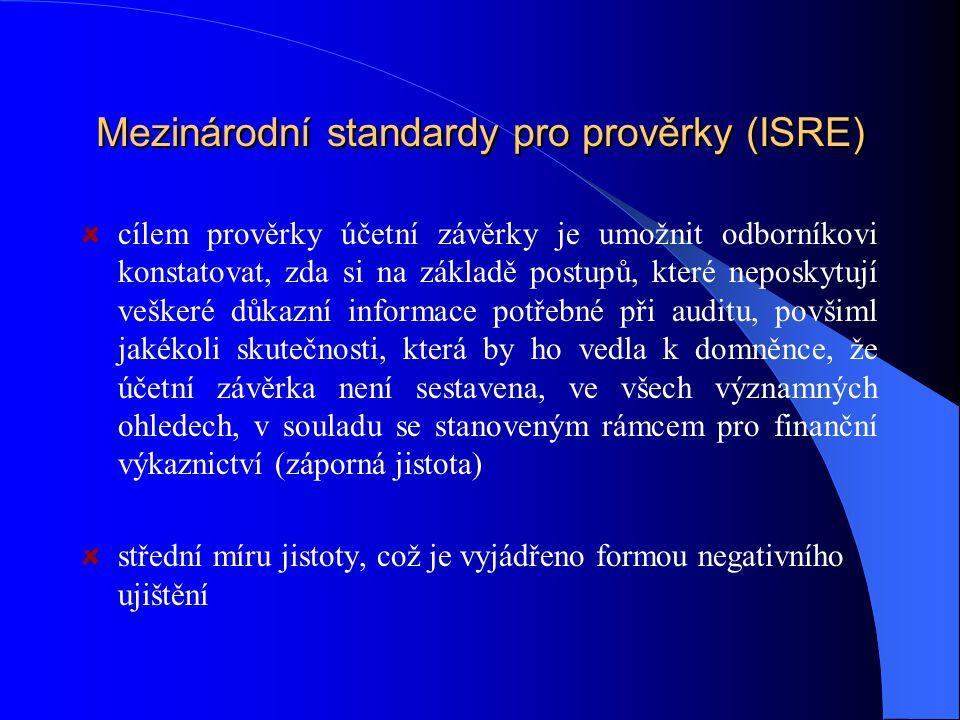 Mezinárodní standardy pro prověrky (ISRE)