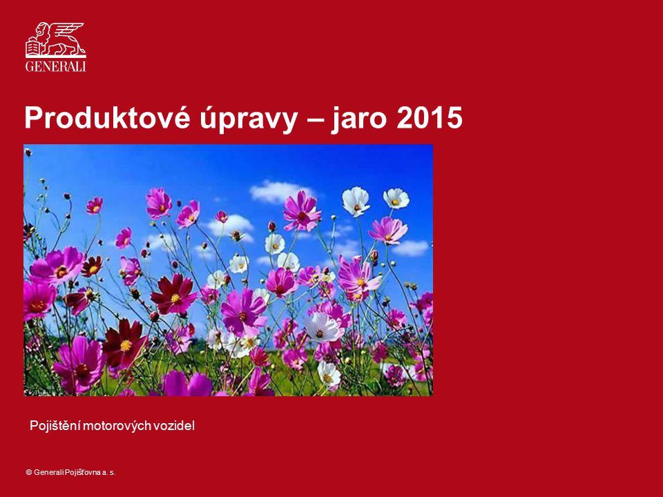 Produktové úpravy – jaro 2015
