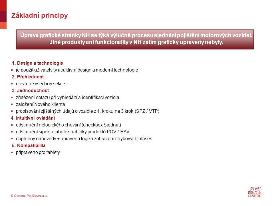 Jiné produkty ani funkcionality v NH zatím graficky upraveny nebyly.