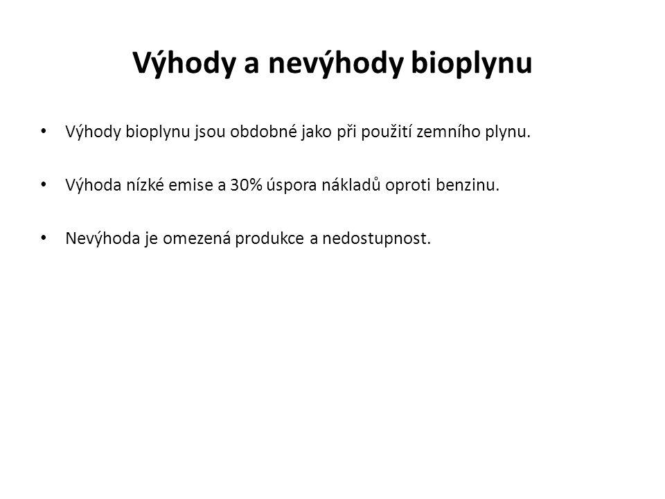 Výhody a nevýhody bioplynu