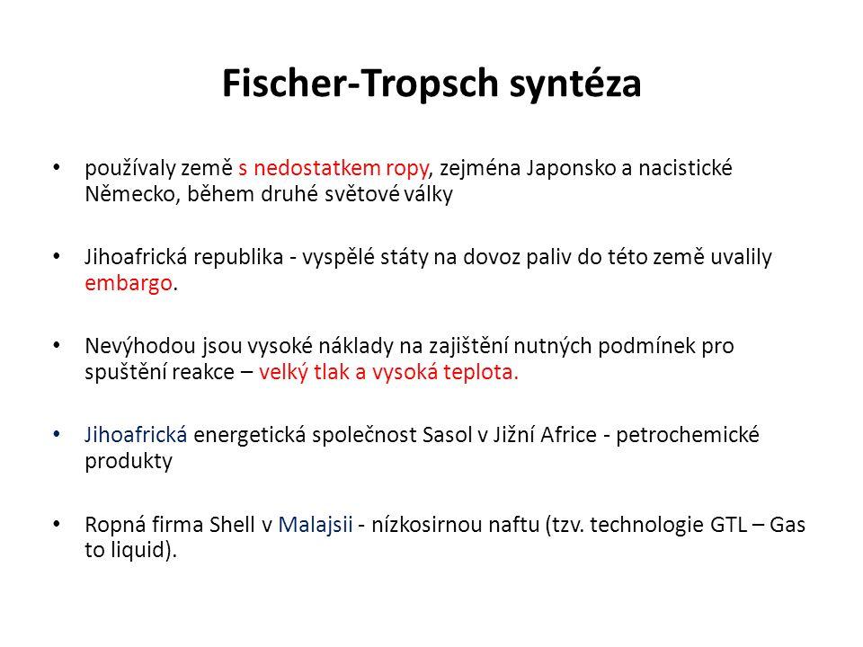 Fischer-Tropsch syntéza