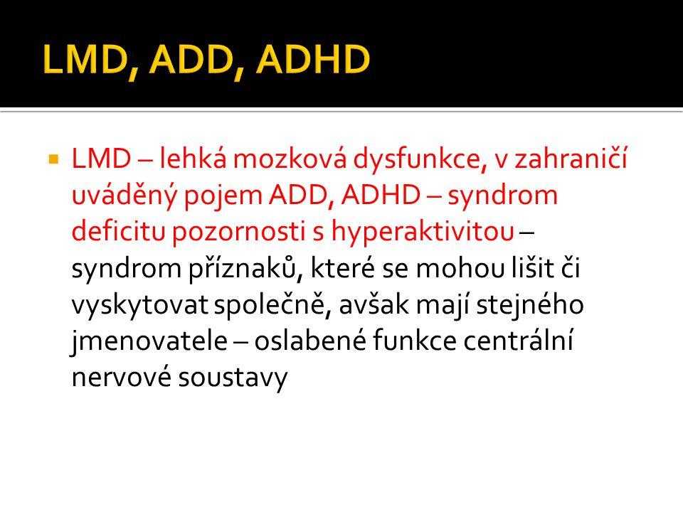 LMD, ADD, ADHD