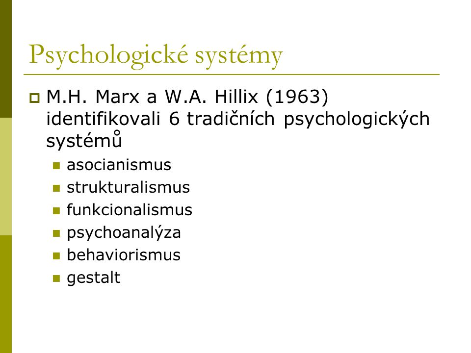 Psychologické systémy