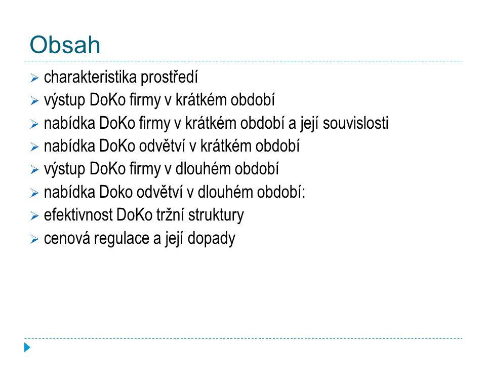Obsah charakteristika prostředí výstup DoKo firmy v krátkém období