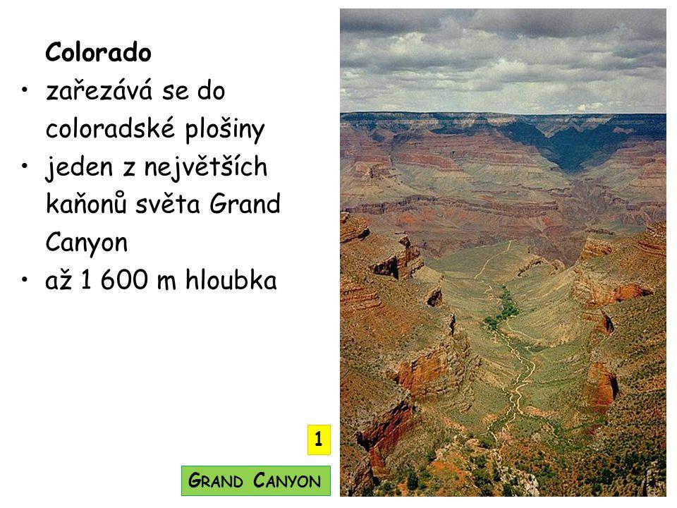Colorado zařezává se do coloradské plošiny jeden z největších