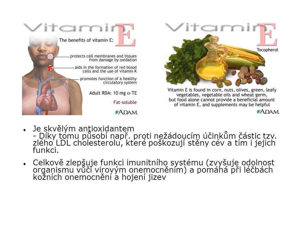 Je skvělým antioxidantem - Díky tomu působí např