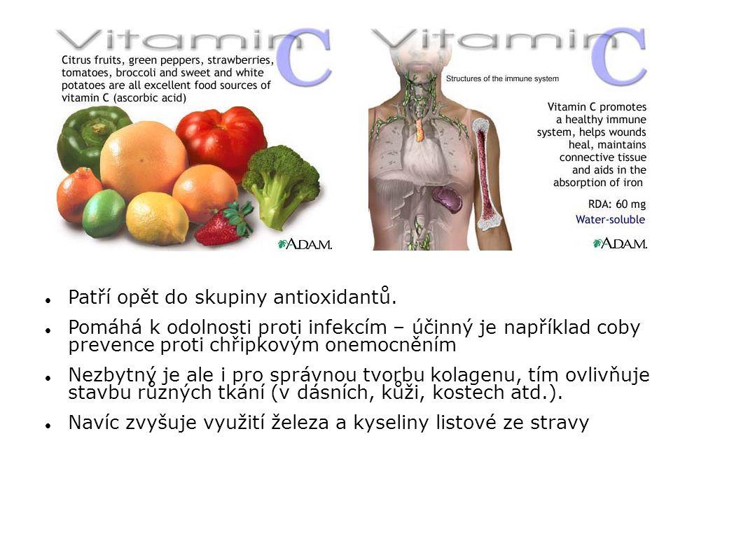 Patří opět do skupiny antioxidantů.